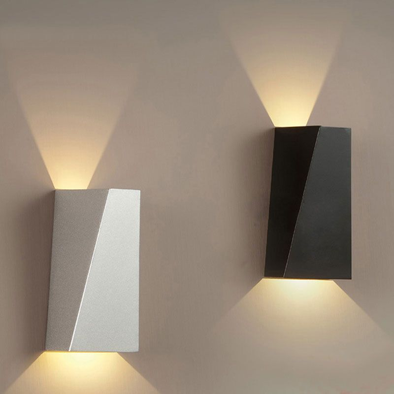 Warm White Modern LED Wall Lights Up Down Cube Indoor Outdoor .