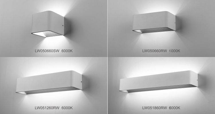 Indoor led wall mounted reaading lamp/ wall Square Long arm LED .