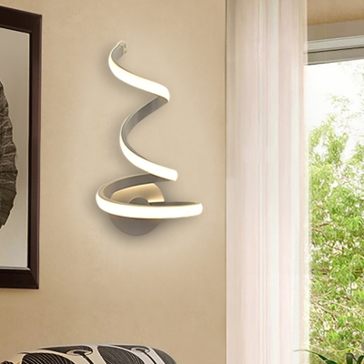 Decorative Modern Curved Led Wall Light 21W/24W White Aluminum .