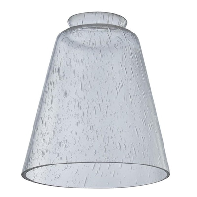 5.39-in H 4.88-in W Clear Seeded Glass Seeded Glass Cone Vanity .