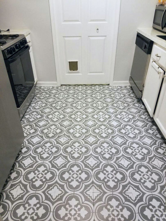 How To Paint Linoleum Flooring - The Honeycomb Ho