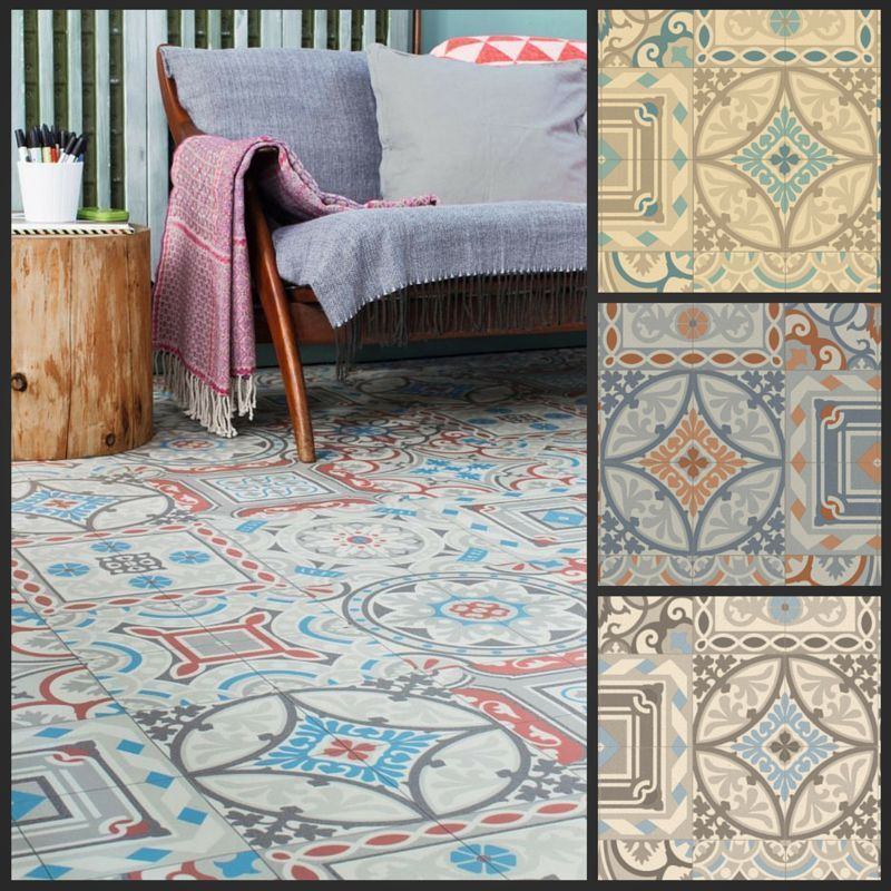 Details about Moroccan Style Vinyl Flooring Sheet Cushion Floor .