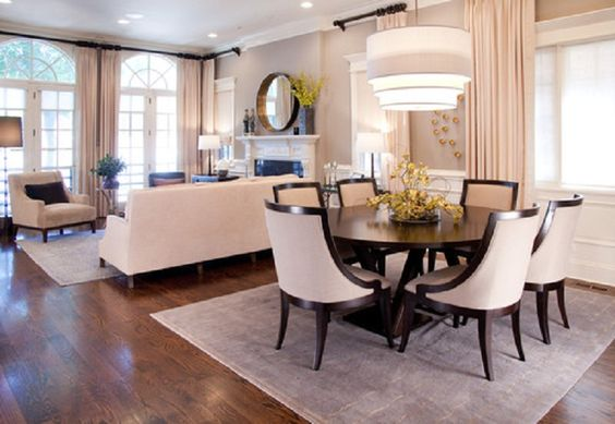 Dining room decor and room together in small space   How to organi