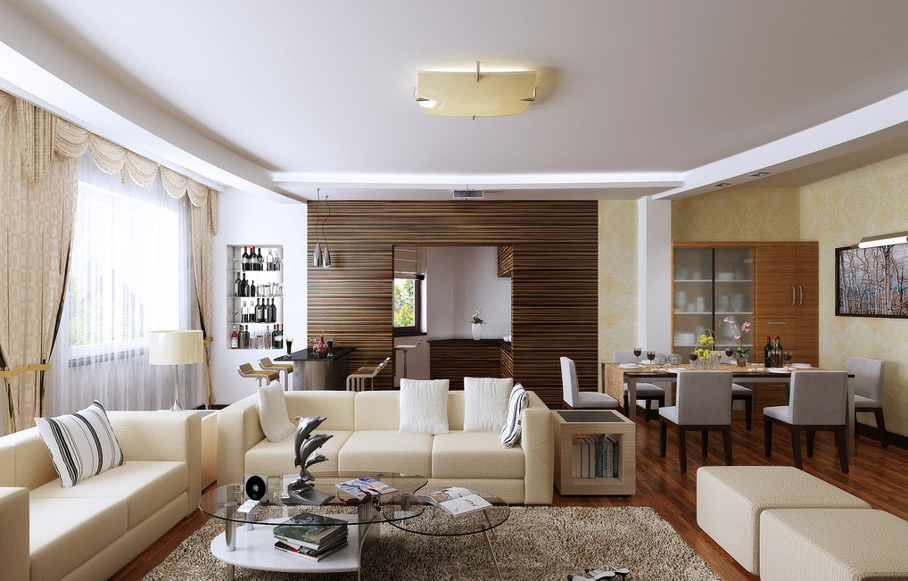 Dining Room And Living Decorating Ideas With Nifty Together .