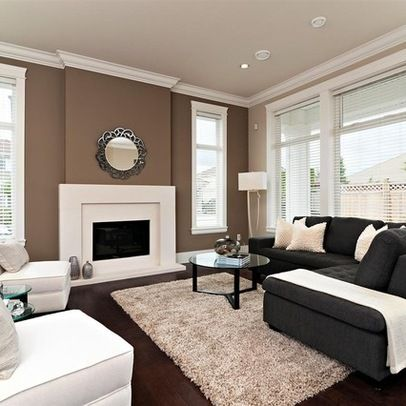 Brown accent Wall | Living room colors, Brown living room, Brown .