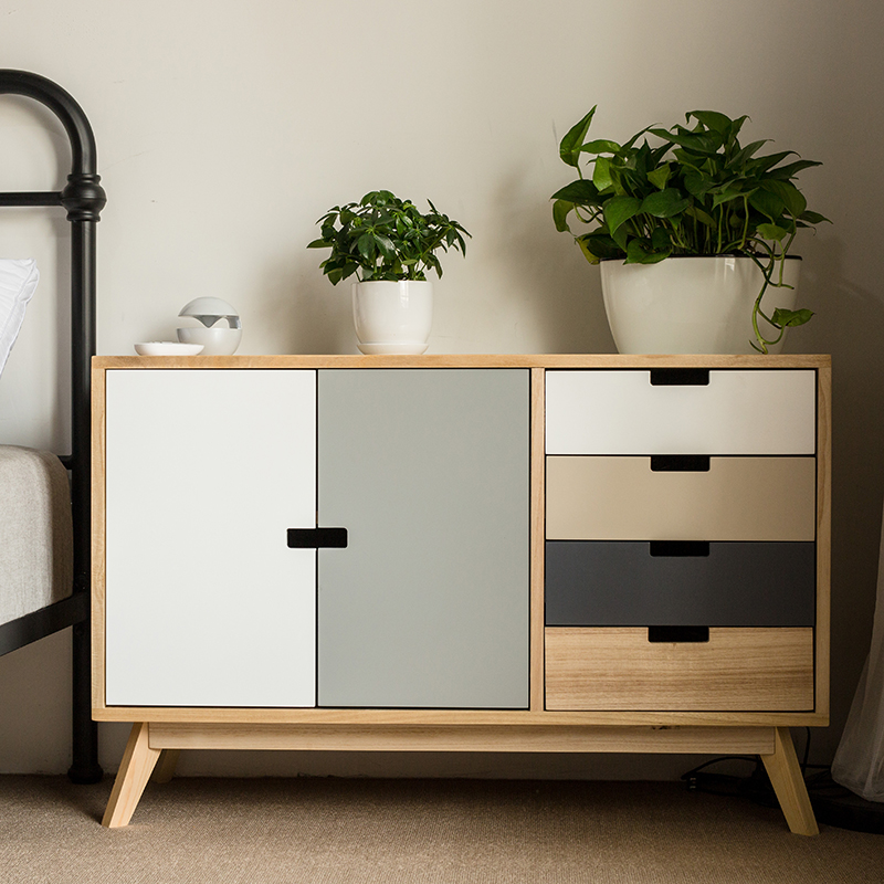 Louis Fashion Living Room Cabinets Solid Wood Simple Modern .