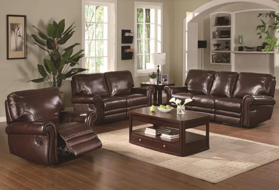 Attractive Leather Sofa Living Room Ideas Brown Blue Mayo .