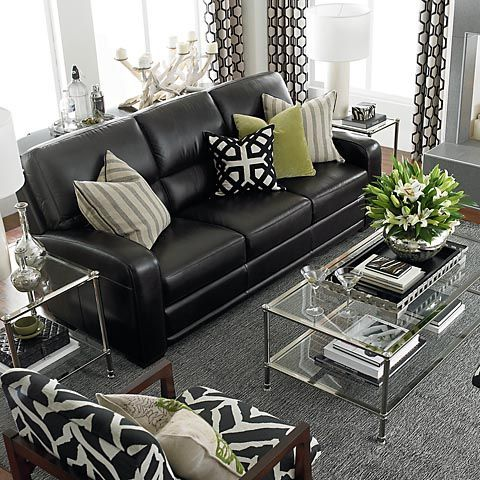 Living Room Colors For Black Leather Furniture