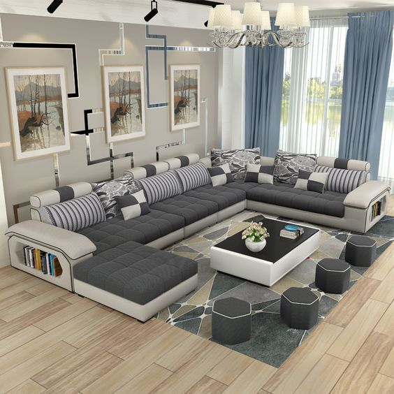 Leather Sectional Sofas for Modern Living Room in 2020   Couch .