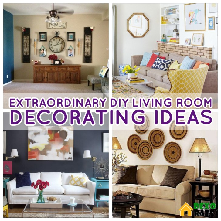 27 Extraordinary DIY Living Room Decorations That Will Increase .