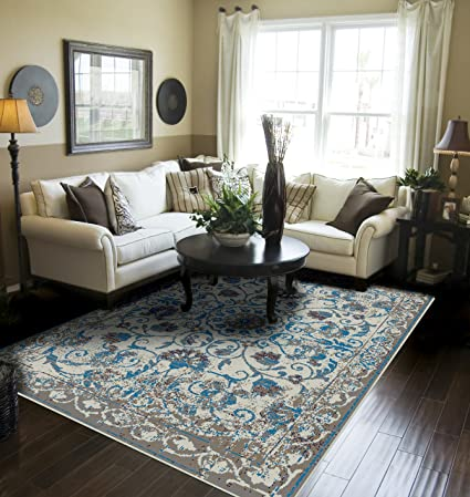 Amazon.com: Distressed Rugs 5x8 for Living Room Gray Rugs for .