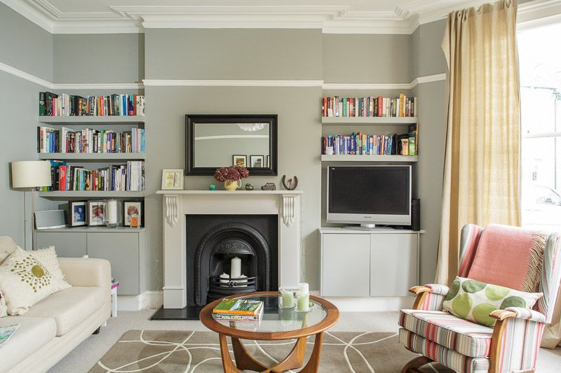 built in cupboards and shelves for dining room | Victorian living .