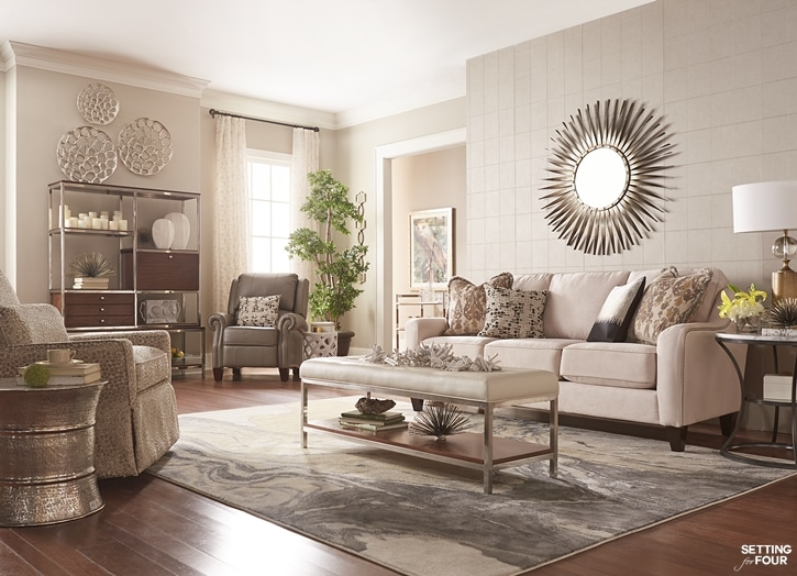Living Room Design Ideas And $10,000 Giveaway - Setting for Fo
