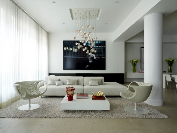 Minimalism in the living room – symbolic of modern setting .