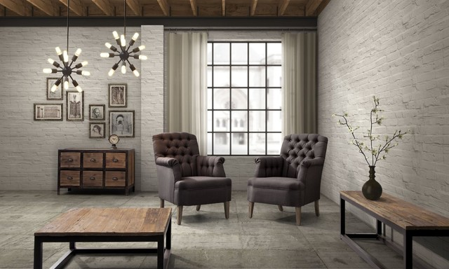 Industrial Loft Furniture - Eclectic - Living Room - New York - by .