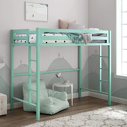 Amazon.com: Walker Edison Furniture Company Metal Twin Loft Bunk .