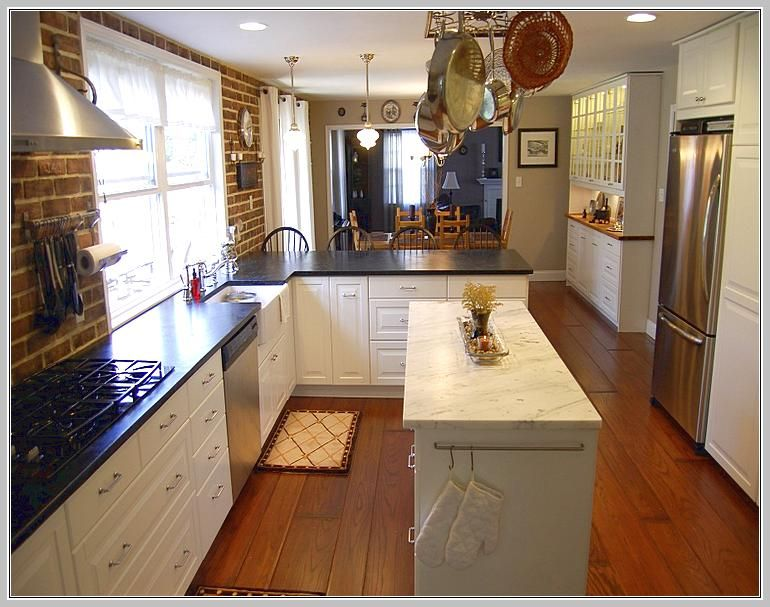 Long Narrow Kitchen Island Table | Narrow kitchen island, Kitchen .