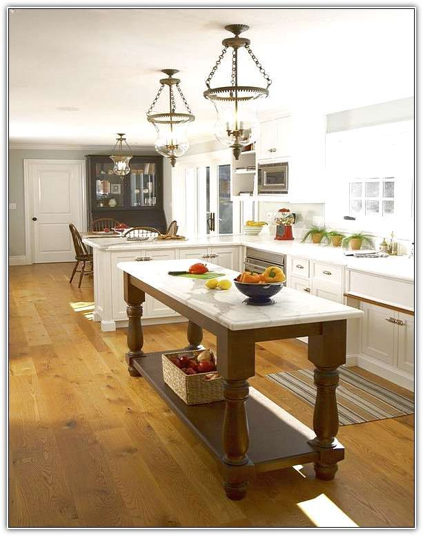 Long Narrow Kitchen Island | Kitchen remodel small, Narrow kitchen .