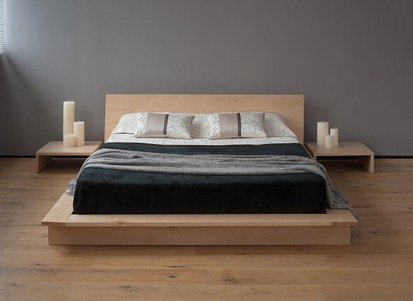 Japanese style bed design ideas in contemporary bedroom interiors .