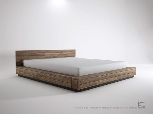 Low king bed. Wonder if I could build something like this. | Low .