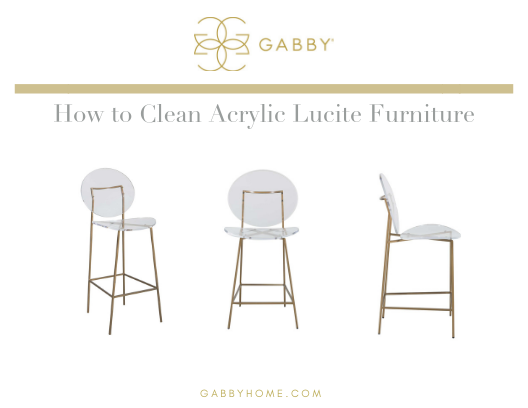 How to Clean Acrylic Lucite Furniture   Gab