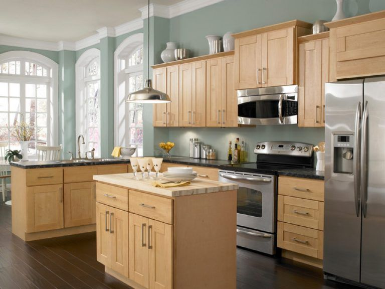 Natural Maple Kitchen Cabinets Paint Color With Maple Cabinets .