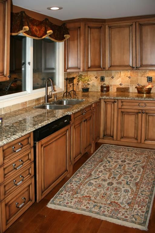 Maple Kitchen Cabinets, love this cabinet color. Description from .