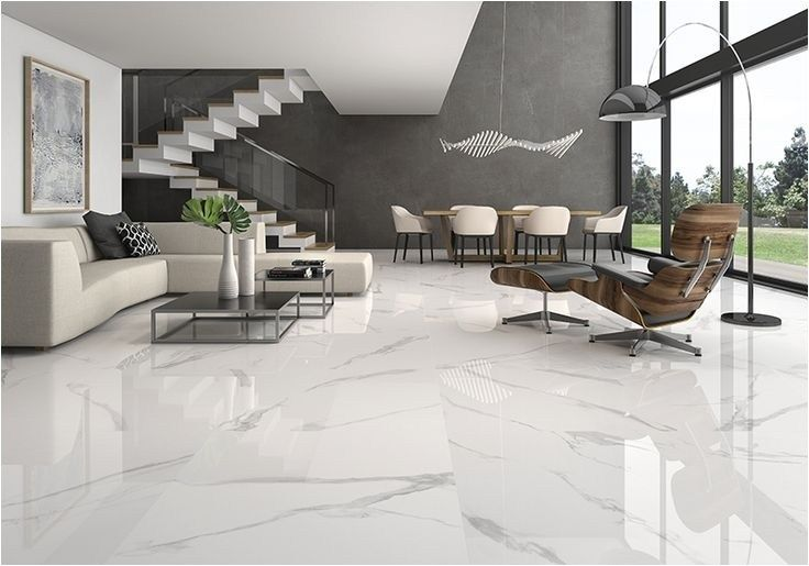 40 Stunning and Clean White Marble Floor Living Room Design .