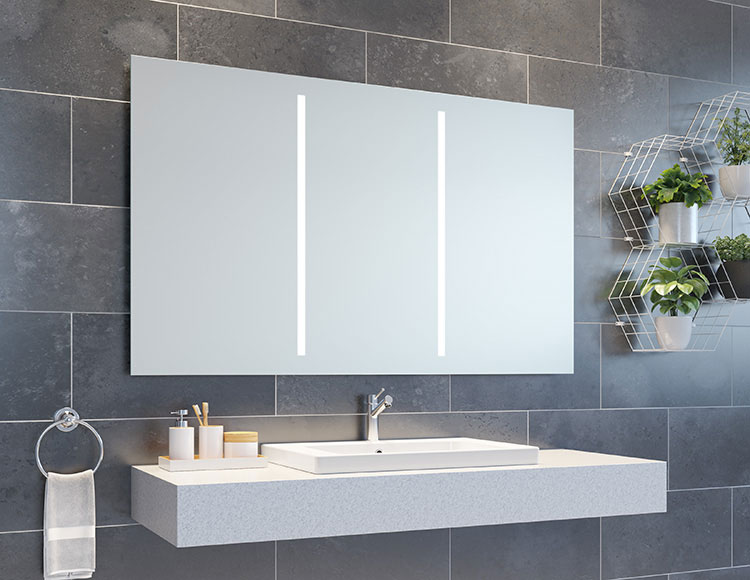 LED Lighted Bathroom Vanity Mirrors & Medicine Cabinets - Innovate .