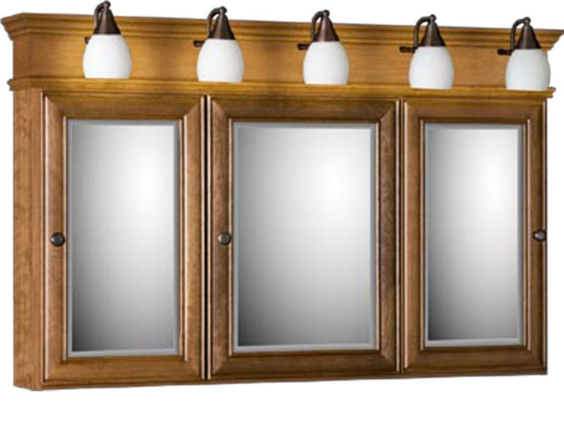 Strasser Tri-view Medicine Cabinet with Three Mirror Doors and .