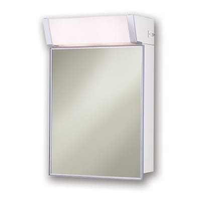 Jensen 16-in x 24-in Rectangle Surface Mirrored Medicine Cabinet .