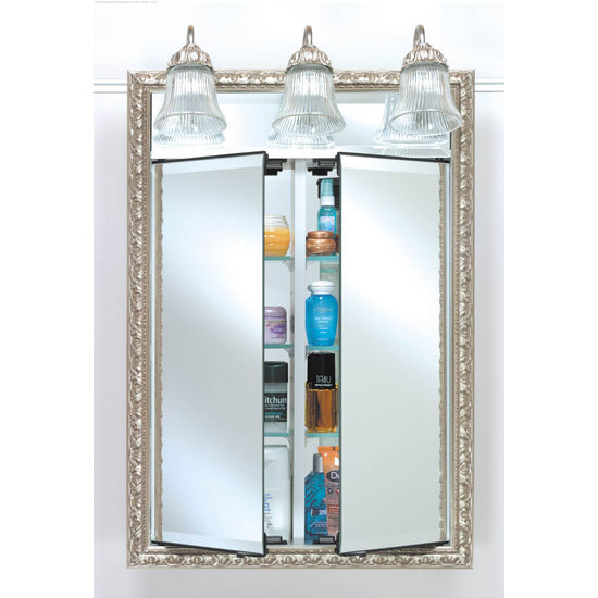Bathroom Medicine Cabinets AF-DDLT Lighted Double Door Medicine .