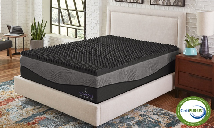 """Up To 78% Off on 2.5"""" Ebonite Memory Foam Topper 