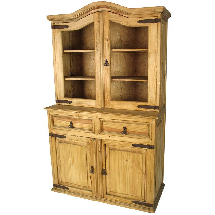 Rustic Mexican Pine Cupboard with Domed Top. Plenty of storage .