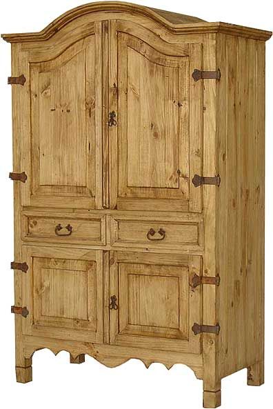 mexican armoire, pine cabinet, solid pine furniture, mexican style .