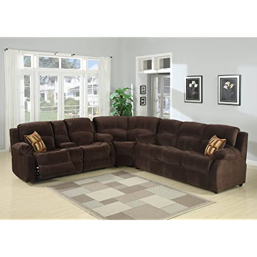 Microfiber Sectional Couch With Recliner