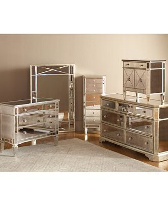 Marais Mirrored Furniture Collection | Mirrored bedroom furniture .
