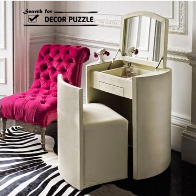 Image result for dressing table with hidden mirror | Dressing .