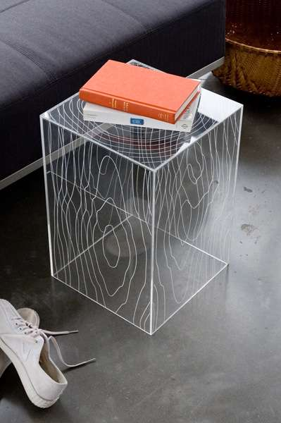 Nature-Inspired Acrylic Furniture: 'Gus Modern Timber Table' from .