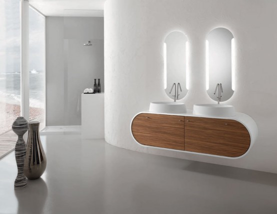 Piaf Modern Bathroom Furniture Sets by Fost