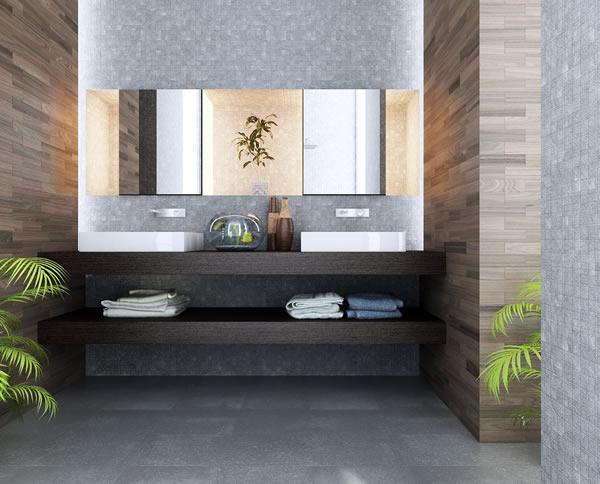 Modern Bathroom Design Trends in Storage Furniture, 15 Space .