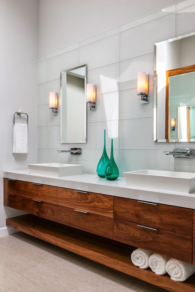 Christine Sheldon Design | Floating bathroom vanities, Modern .