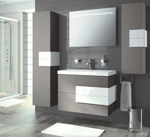 "Amazon.com: Modern Bathroom Furniture, Vanity Set Cronos 40"" Moka ."