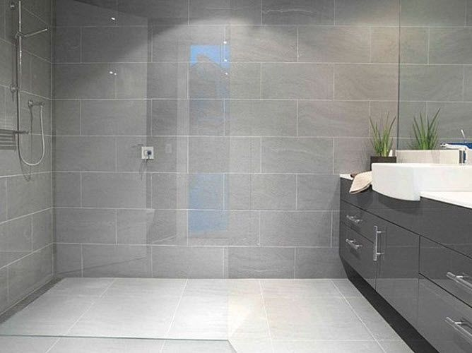 40 modern gray bathroom tiles ideas and pictures | Grey bathroom .