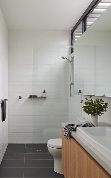 Best 2 Modern Bathroom Subway Tile Walls Granite Counters Design .
