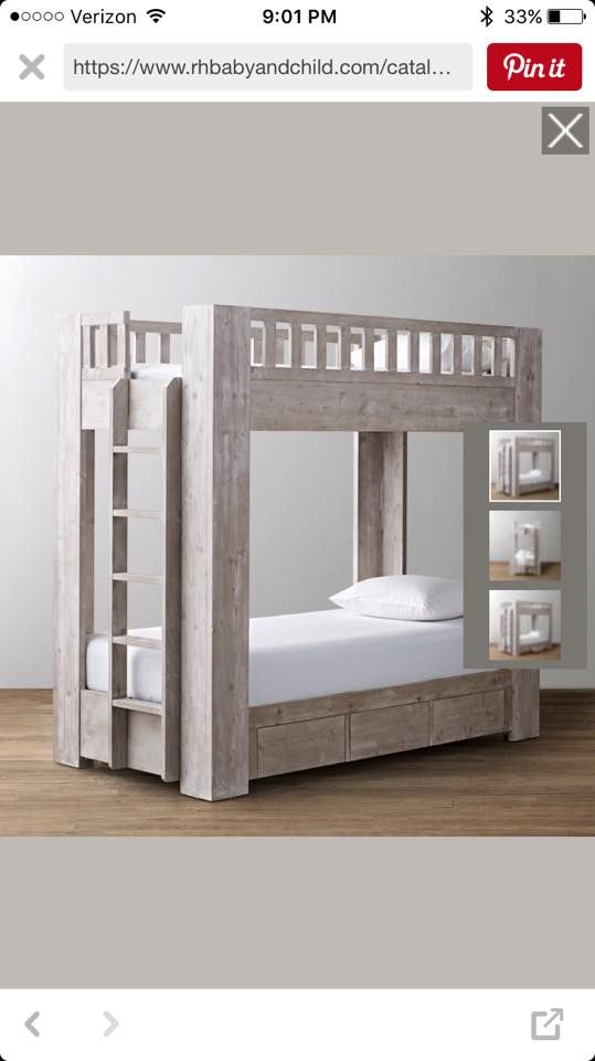 Rustic Modern Bunk Bed | Cool bunk beds, Bunk beds with storage .