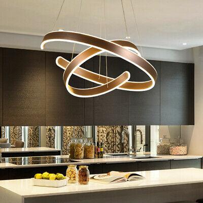 Modern Chandeliers LED Lamps Living Room Circle Ring Dimmable .