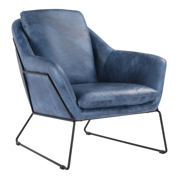 Shop Aurelle Home Leather Modern Club Chair - On Sale - Overstock .