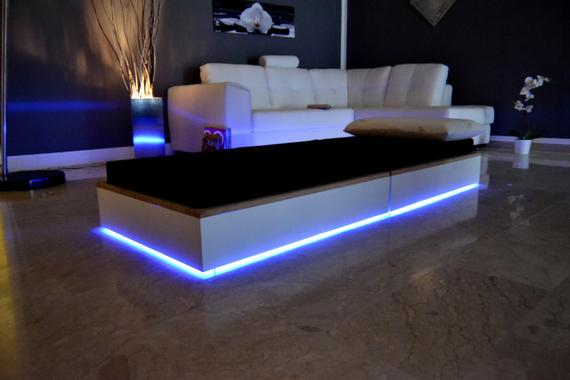 Coffee table convertible into a guest bed Modern design led | Et
