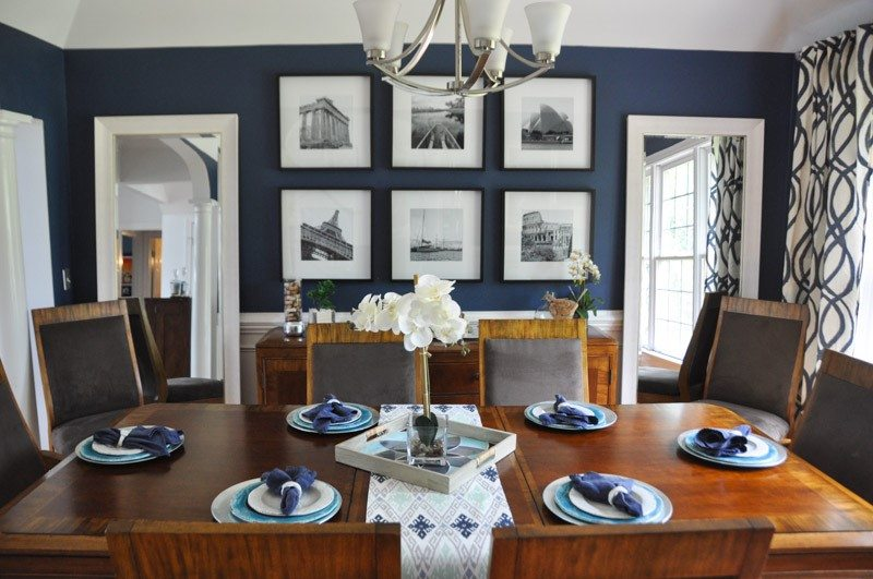 Modern Dining Room Design Ideas - Blue & Teal - A Space to Call Ho
